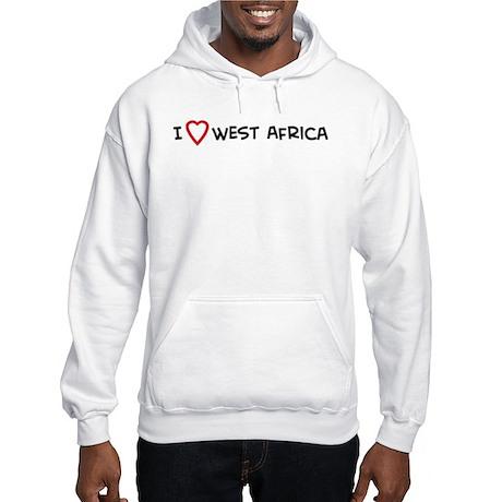 I Love West Africa Hooded Sweatshirt