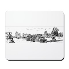 Old Boise Black Panoramic Mousepad