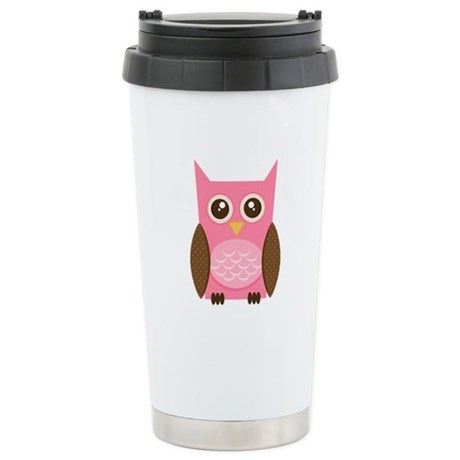 Owl Stainless Steel Travel Mug