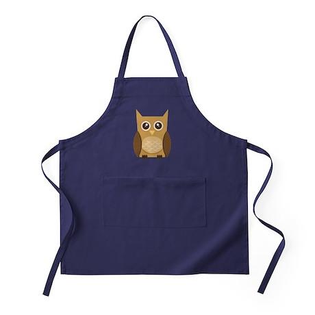 Navy Brown Owl Apron