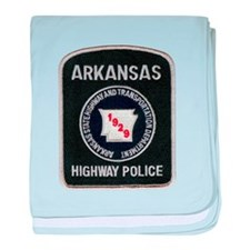 Arkansas Highway Police baby blanket
