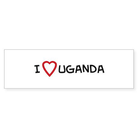 I Love Uganda Bumper Sticker