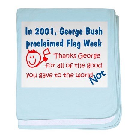Bush's Flag Week baby blanket