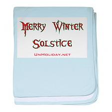Merry Winter Solstice 01 baby blanket