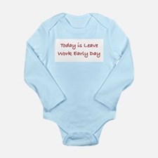 Leave Work Early Day Long Sleeve Infant Bodysuit