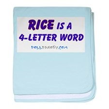 Condy Rice 4 Letters baby blanket