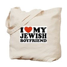 I Love My Jewish Boyfriend Tote Bag
