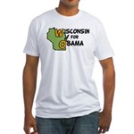 Wisconsin for Obama Fitted T-Shirt