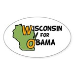 Wisconsin for Barack Obama Oval Sticker