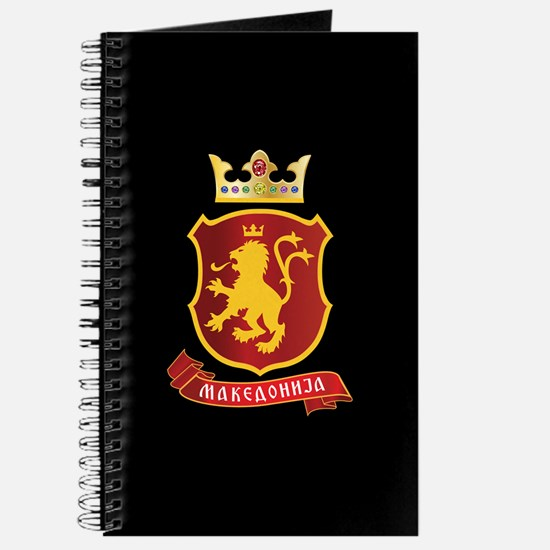 Journal with Macedonia Lion Crest and Crown
