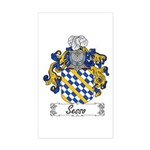 Sesso Coat of Arms Rectangle Sticker