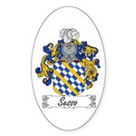 Sesso Coat of Arms Oval Sticker