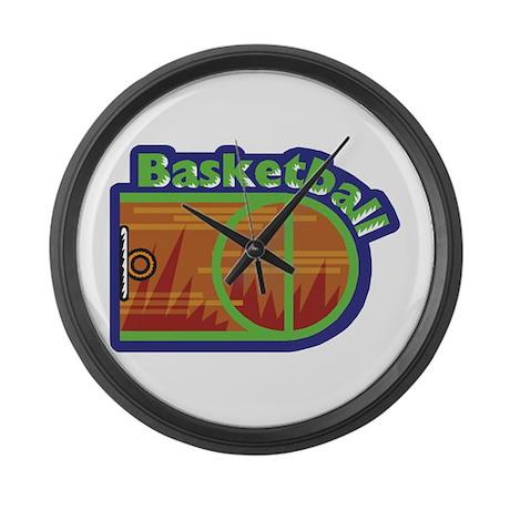 Basketball Large Wall Clock