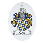 Sesso Coat of Arms Oval Ornament