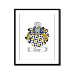 Sesso Coat of Arms Framed Panel Print