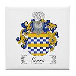Serra Family Crest Tile Coaster