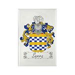 Serra Family Crest Rectangle Magnet (10 pack)