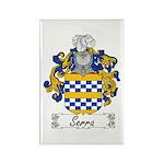Serra Family Crest Rectangle Magnet (100 pack)