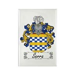 Serra Family Crest Rectangle Magnet