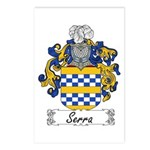 Serra Family Crest Postcards (Package of 8)