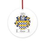 Serra Family Crest Ornament (Round)