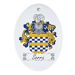 Serra Family Crest Oval Ornament