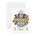 Serra Family Crest Greeting Cards (Pk of 10)
