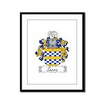 Serra Family Crest Framed Panel Print