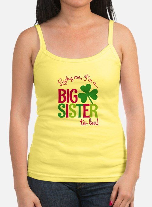 St. Patrick's Day Big Sister to be Tank Top