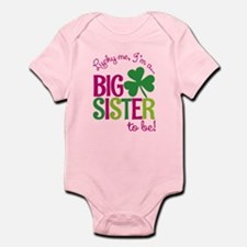 St. Patrick's Day Big Sister to be Body Suit