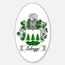 Selvaggi Family Crest Oval Decal