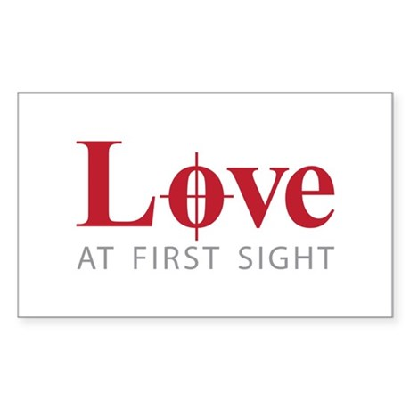 Love at first sight Sticker (Rectangle)