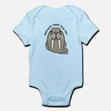 walruses need love too Infant Bodysuit