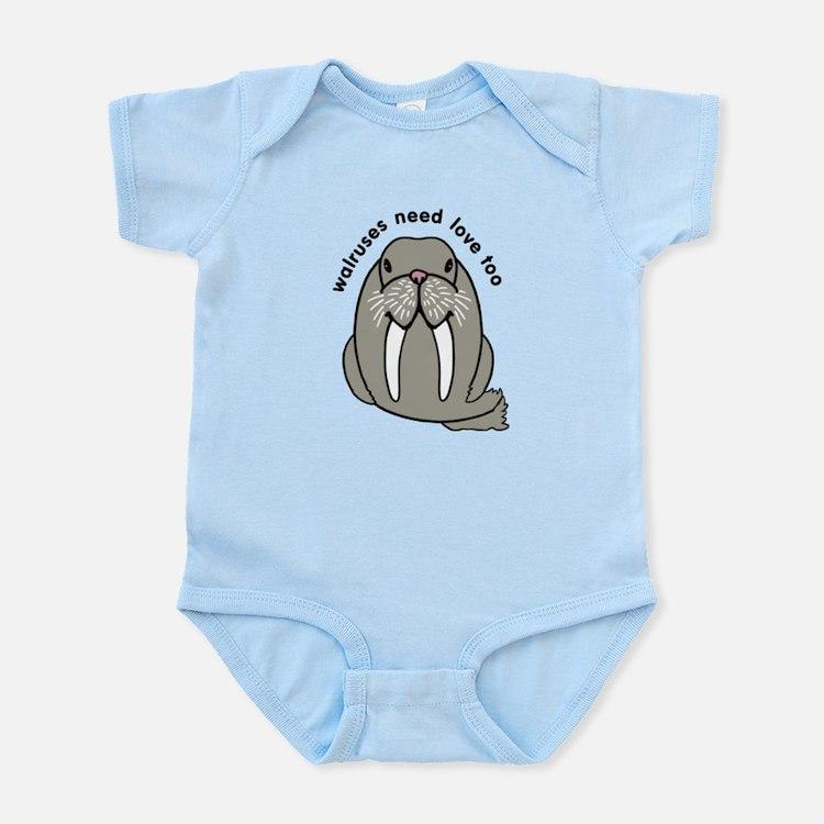 walruses need love too Infant Bodysuit