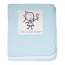 Natural Diva baby blanket