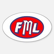 Cute Fml Sticker (Oval)