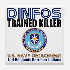 DINFOS Navy Tile Coaster