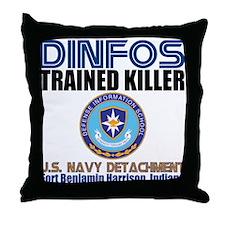 DINFOS Navy Throw Pillow