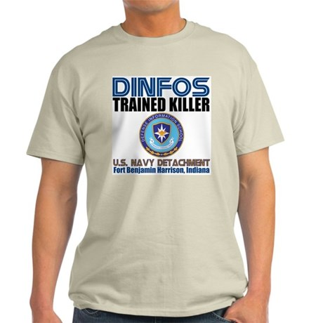 DINFOS Navy Ash Grey T-Shirt