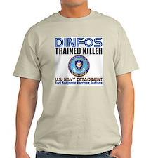 DINFOS Navy Ash Grey T-Shirt