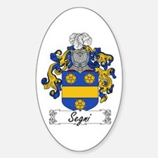 Segni Coat of Arms Oval Decal