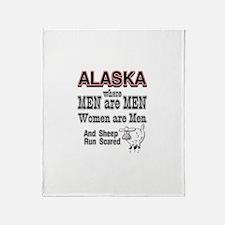 women are men Throw Blanket