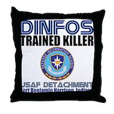 DINFOS Air Force Throw Pillow