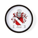 Secco Coat of Arms Wall Clock