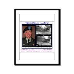 FREE Bradley Manning Framed Panel Print