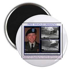 "FREE Bradley Manning 2.25"" Magnet (100 pack)"