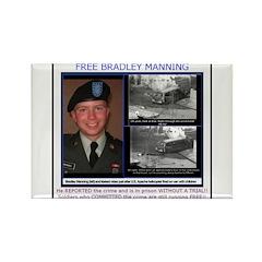 FREE Bradley Manning Rectangle Magnet
