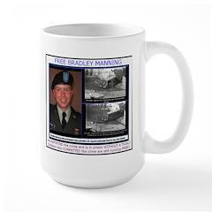 FREE Bradley Manning Large Mug