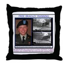 FREE Bradley Manning Throw Pillow