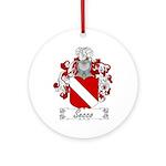 Secco Coat of Arms Ornament (Round)
